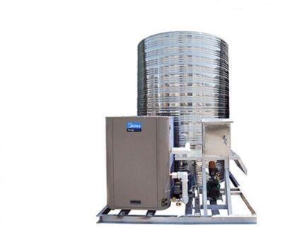 陕西美的8T10P热水热泵工程一体机
